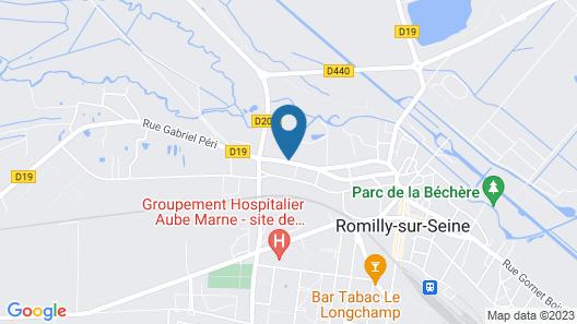 Appartements Henri et Millet Map