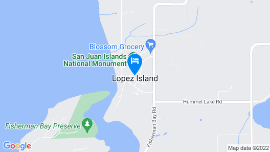 Lopez Island Agate Beach Waterfront Home Map