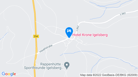 Hotel Krone Igelsberg Map