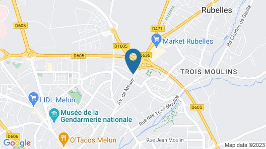 ibis Melun Hotel Map