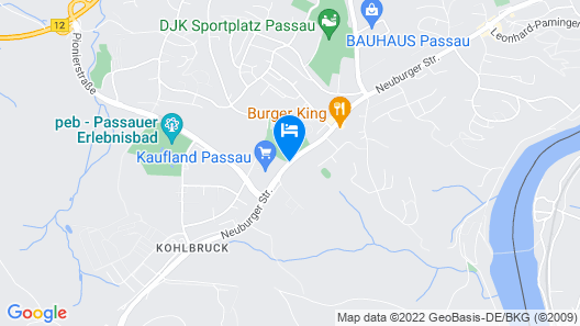 Best Western Amedia Passau Map