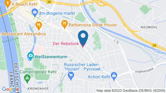 Hotel Grieshabers Rebstock Map
