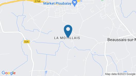 Chambres D'hôtes Domaine de la Motillais Map