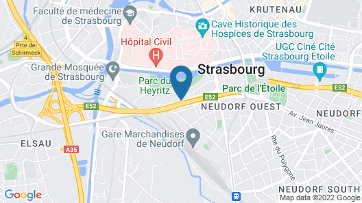 Holiday Inn Express Strasbourg - Centre Map