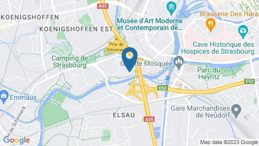 Comfort Hotel Strasbourg Map