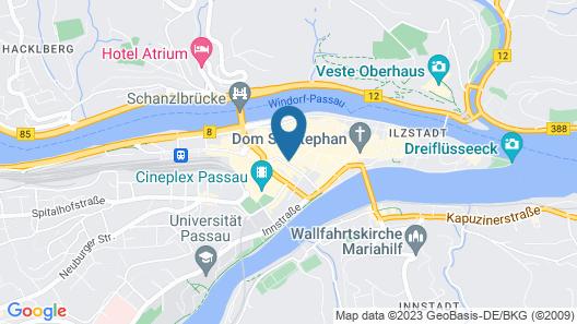 Centro Hotel Weisser Hase Map