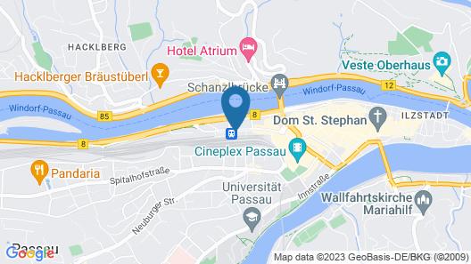 Hotel im Bahnhof Passau Map