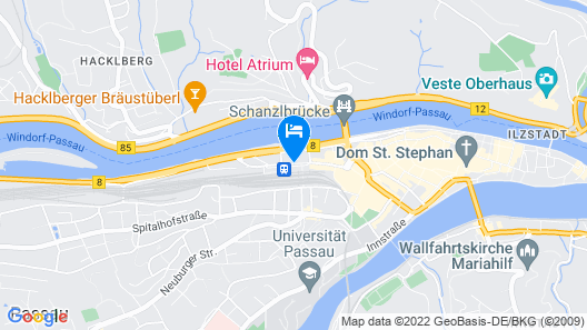 Hotel Passau City Centre Map