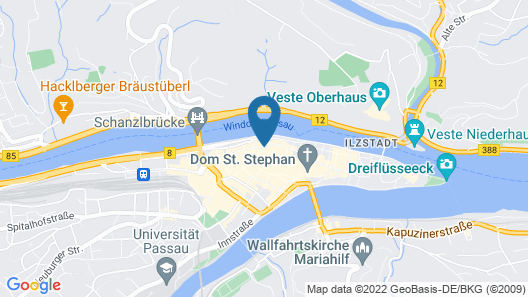 Art Hotel & Hostel Map