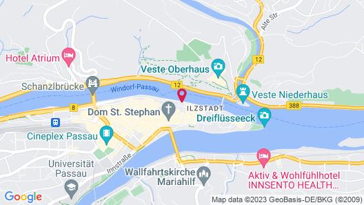 Hotel Residenz Passau Map