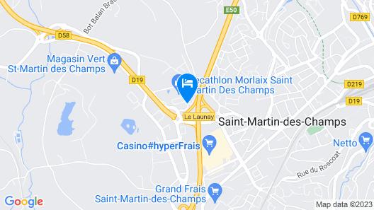 The Originals City, Hôtel Morlaix Ouest Map
