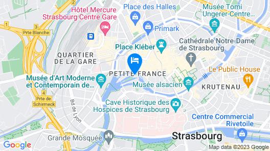 Hôtel & Spa RÉGENT PETITE FRANCE Map
