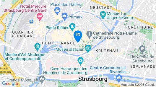 Hôtel Gutenberg Map