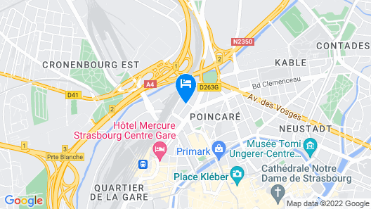 City Residence Access Strasbourg Map