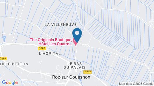 The Originals Boutique, Hôtel Les Quatre Salines, Le Mont Saint-Michel Sud (Inter-Hotel) Map