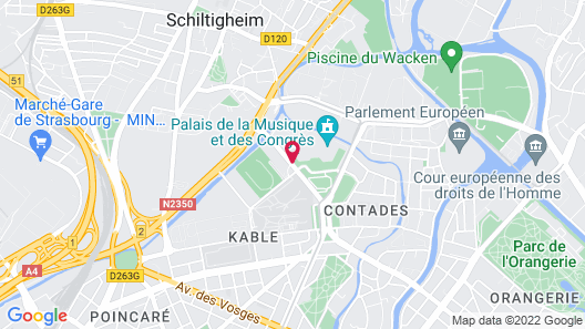 Hilton Strasbourg Map
