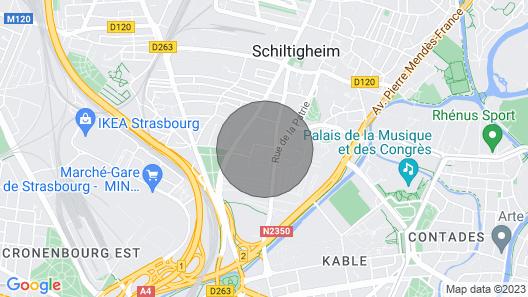 Cozy 50m2, Near Center Strasbourg, Wifi, Parking Map