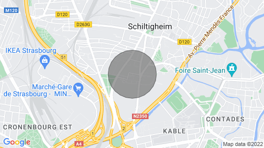 Apartment 50m² Parking / Terrace / Wifi 15 Minutes From Strasbourg Center on Foot Map