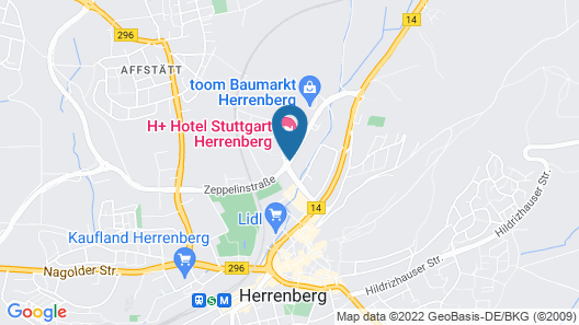 H+ Hotel Stuttgart Herrenberg Map