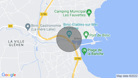 1 Bedroom Accommodation in Binic Map