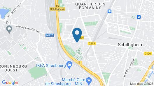 Maison charmante avec terrasse-Schiltigheim Map