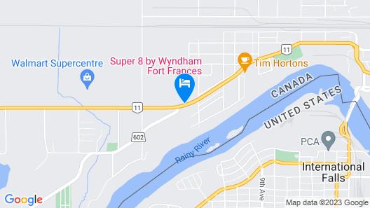 Super 8 by Wyndham Fort Frances Map