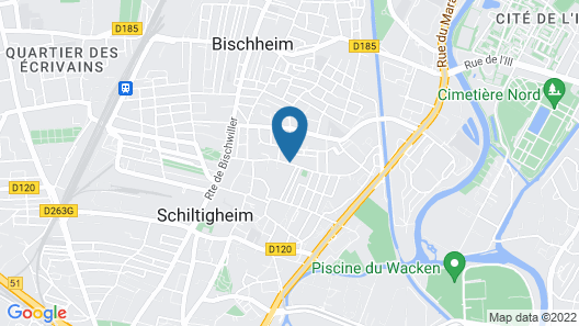 Moderne 2 pièces Schiltigheim avec parking Map