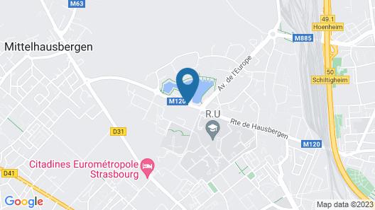 Hôtel Roi Soleil Prestige Strasbourg Map