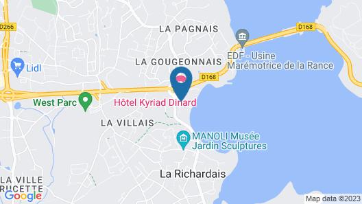 Hotel Kyriad Saint-Malo Ouest-Dinard Map