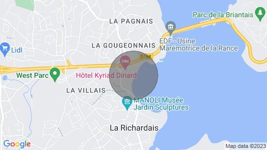 Apartment Les Genêts in La Richardais - 2 Persons, 1 Bedrooms Map