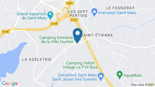 See Breizh / Camping La Ville Huchet Map
