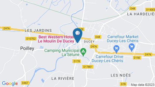 Best Western Le Moulin De Ducey Map