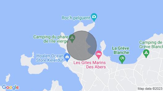 Gîte L'arrosoir Situé à 300m des Plages Lilia Plouguerneau - Jardin et Terrasse Map