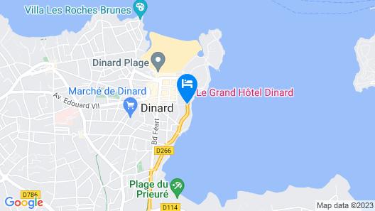 Hôtel Barrière Le Grand Hôtel Dinard Map