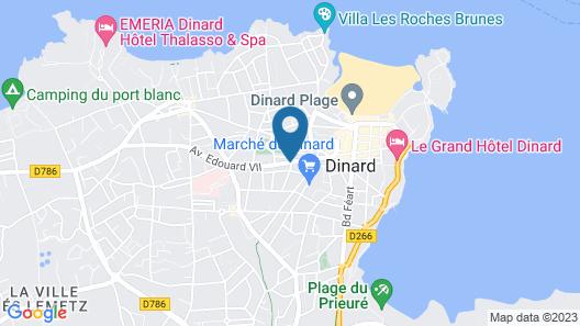 Brit Hotel du Parc des Tourelles Map