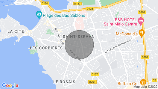 Very Nice Renovated Villa in St Malo Map