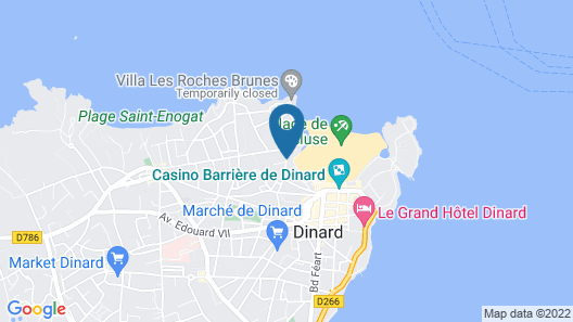 Le Crystal Dinard Plage Map