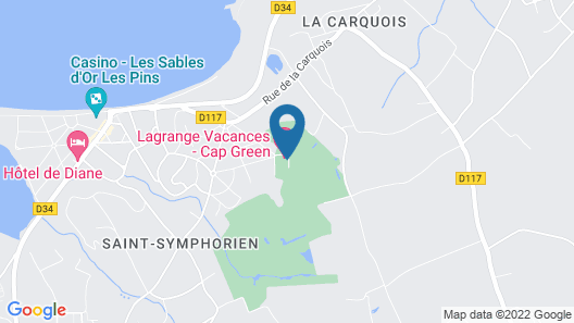 Résidence Lagrange Vacances Cap Green Map