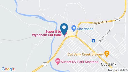 Super 8 by Wyndham Cut Bank Map