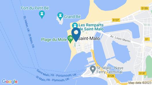 Hotel De La Porte Saint Pierre Map
