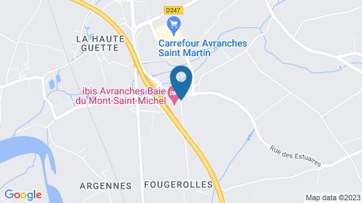 ibis Avranches Baie du Mont Saint Michel Map