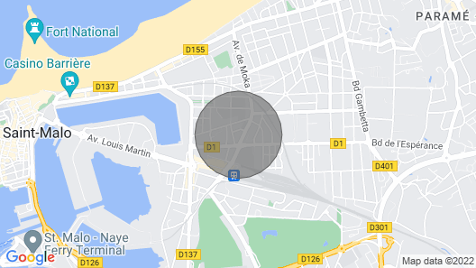 Apartment With Balcony in the Center of Saint Malo Map