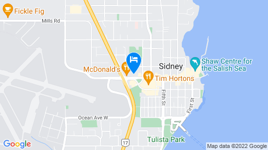 Travelodge by Wyndham Victoria Airport Map