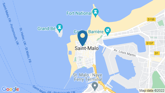 Golden Tulip Saint Malo - Le Grand Bé Map