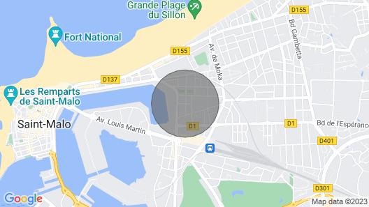 Le Minihic - Appartement 400 m Plage du Sillon St Malo Map