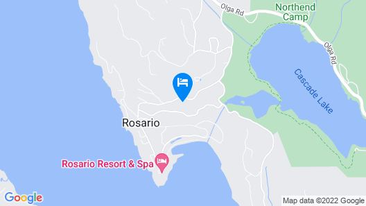 Orcas Island, Cascade Bay Overlook #286 Map
