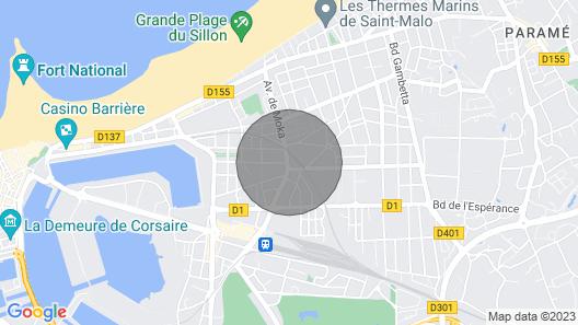 Apartment Terres Neuvas in Saint Malo - 4 Persons, 1 Bedrooms Map