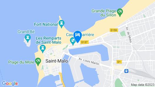 Hotel Oceania Saint Malo Map