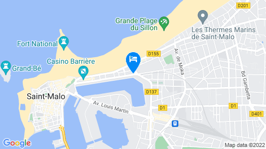 Aubade Hotel Map