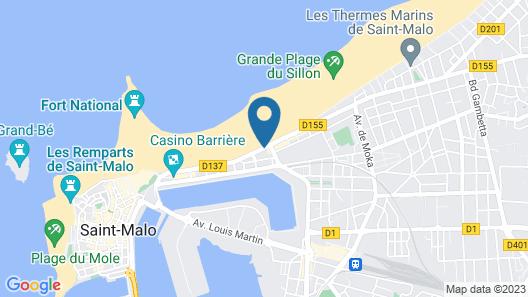 ibis Saint Malo Plage Map